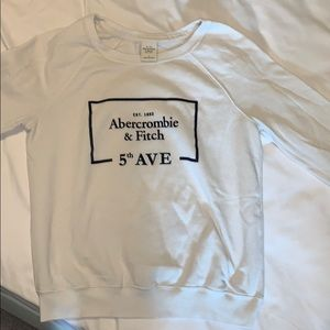 Abercrombie white crewneck